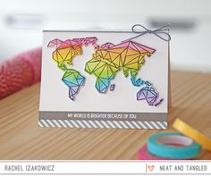 Origami Map  - Products and inspiration from Neat And Tangled: http://neatandtangled.blogspot.com/