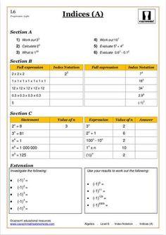 Maths Worksheets for Kids | KS3 Maths Worksheets | Cazoom | Count Me ...