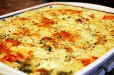 Italian Chicken and Rice Casserole Recipe Main Dishes with chicken, rice, red bell pepper, fresh parsley, cheese, chicken broth, cream of chicken soup, oregano, basil, garlic cloves, black pepper