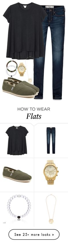 """Game day"" by keileeen on Polyvore featuring Abercrombie & Fitch, Monki, TOMS and Michael Kors"