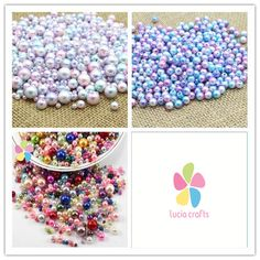 Lucia Crafts 4/6/8/10mm Multi size option random mix color Pearls Round Bead garment accessories 20g/lot 005008035-in Rhinestones from Home & Garden on Aliexpress.com | Alibaba Group