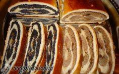 Diós és mákos bejgli kelt tésztából recept fotóval Hungarian Desserts, Poppy Cake, Strudel, Edible Flowers, Hot Dog Buns, My Recipes, Sausage, Sweet Tooth, Muffin