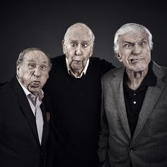 Comedy geniuses Mel Brooks, Carl Reiner, and Dick Van Dyke at a reunion of the Dick Van Dyke Show, produced and written by Carl Reiner, with writers who included Mel Books : pics Funny Photos Of People, Funny People, Funny Guys, Hilarious, Funny Men, People People, Funny Things, Funny Stuff, Actors Male