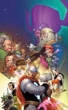 Thor and friends by Pasqual Ferry
