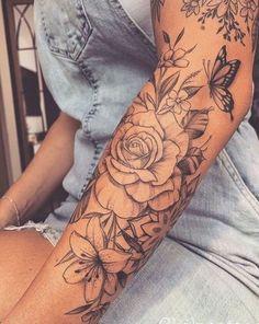 Forarm Tattoos, Forearm Sleeve Tattoos, Best Sleeve Tattoos, Sleeve Tattoos For Women, Love Tattoos, Hand Tattoos, Pretty Tattoos, Women Sleeve, Tatoos