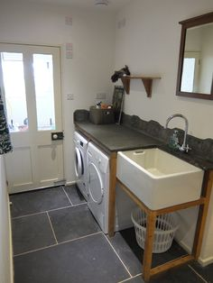 Butler sink utility room