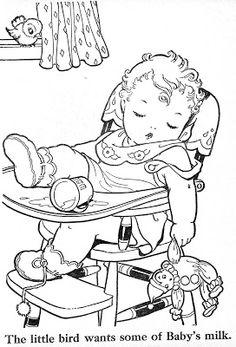 Malbuch ~ Blue Ribbon – Bonnie Jones – Picasa-Webalben – coloring pages - Malvorlagen Mandala Vintage Coloring Books, Coloring Book Pages, Coloring Sheets, Colouring Pics, Coloring Pages For Kids, Kids Coloring, Images Vintage, Digi Stamps, Embroidery Patterns