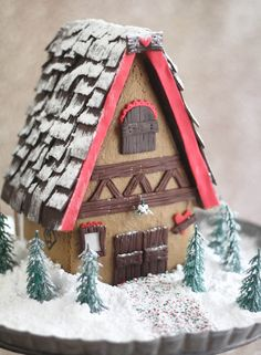 Gingerbread House Dough Gingerbread with recipes and a link for a good template. Gingerbread House Dough Gingerbread with recipes and a link for a good template. Gingerbread Castle, Gingerbread House Template, Cool Gingerbread Houses, Christmas Gingerbread House, Gingerbread Cookies, Christmas Cookies, Christmas Houses, Christmas Villages, Christmas Baking