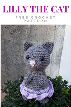 Lilly the cat - #KKBirthdayCAL - free pattern after the CAL I hosted in january. #crochet #freepattern #crochetcat #amigurumi