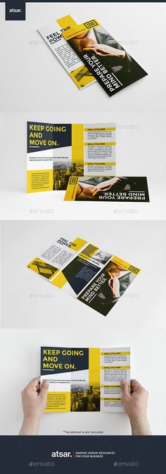 Business Yellow Trifold Template #design Download: http://graphicriver.net/item/business-yellow-trifold/12319915?ref=ksioks