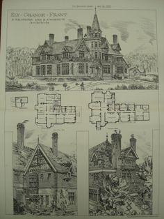 Ely Grange, Frant, East Sussex, England, UK, 1881, E. Salomons and R. S. Wornum