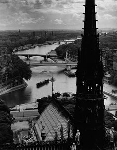 view notre dame, paris, 1939 - by wolf suschitzky