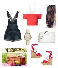"""""""Picnic Date"""" by sevendaytrends on Polyvore featuring Paige Denim, Alice + Olivia, Michael Kors and Sydney Evan"""