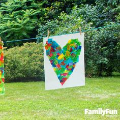 Mega Collage: After the kids make this kaleidoscope of colors, hang it in your home as a reminder of the lazy, creative days of summer.