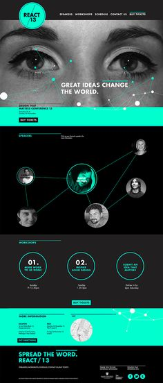 React Conference Website Design on Behance