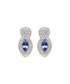 Tanzanite & Gold Vermeil Stud Earrings