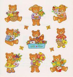 Redi-Stix teddy bear stickers