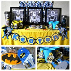 batman birthday party @Allison Rice so cute for kohen!