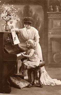 Victorian era piano photo.