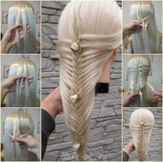 braided fishtail hairstyle