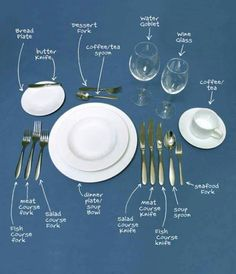 Proper table setting.