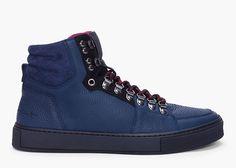 Yes Saint Laurent Navy Malibu Hiking Sneakers