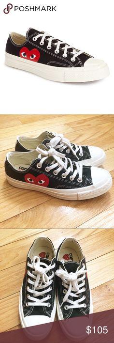 ff1950c060a CDG Play Hidden Heart Low Sneakers Men s 5 Wo s 7 Commes des Garçons PLAY x  Converse