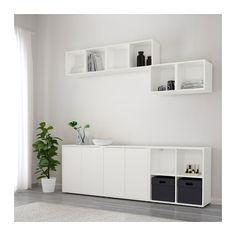 EKET Combinaison rangement avec pieds - blanc - IKEA
