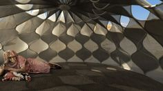 abeer-seikaly-weaving-a-home-designboom04.jpg  Called Weaving a Home, the small enclosures are based on the three-dimensional, tent-like temporary huts of nomadic tribes,