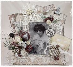 """Christmas card by LLC DT Member Tracy Payne, using papers from Maja Design's """"It's Christmas Time"""" collection."""