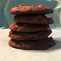 Healthy, delicious, gluten-free brownie cookies! Beware... they are addicting!