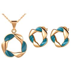 Find More Jewelry Sets Information about Uloveido Fashionable Jewellery Enamel Set Wedding Necklace Earrings Blue Black Fashion Rose Gold Plated Jewellery for WomenT258,High Quality jewelry tanzanite,China jewelry findings ring bases Suppliers, Cheap jewelry parties from Ulovestore Jewelry on Aliexpress.com