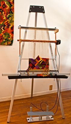 Fav stand & treadle from Mirrix Looms for all our Fabulous Mirrix Looms!