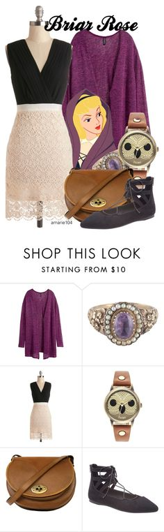 """""""Briar Rose"""" by amarie104 ❤ liked on Polyvore featuring H&M, Disney, Decree, Beara Beara and Lane Bryant"""