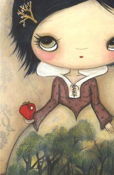Snow White Print Fairy Tale Apple Children Wall por thepoppytree
