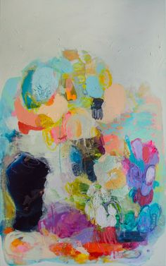 """The Garden of My Mind"" by Claire Desjardins. 60""x36"" - Acrylics on canvas."