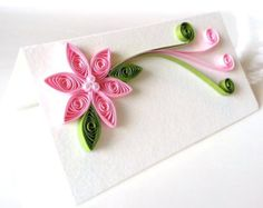 Flower Ornaments Purple Paper Quilled Set for by WintergreenDesign