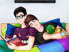 """""""Phil got me this, which is probably the single best present anyone's ever given me in my entire life."""" """"Yeah, I like cuddles… I think sometimes cuddles are better than kisses in a relationship."""" I SHIP THEM SO MUCHHHH Dan Howell, Daniel James Howell, Dan And Phil Fanart, Dan And Phil Fanfiction, Dan And Phil Cute, Phan Memes, Phan Is Real, Dan And Phill, Phil 3"""