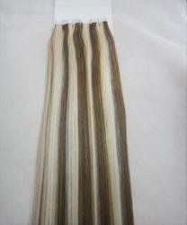 Remy Tape in Layers 20 Pcs 20 + 20 Pcs 22 Total 40 100% Human Hair Extensions #6/613 Ash Bleach Blonde by MyLuxury1st. $149.50. QUESTIONS? CONTACT MYLUXURY1ST HAIR EXTENSIONS. 40-60 pcs is usually enough for a full head, ask your stylist to make sure. The hair is re-useable if you take care of it.  Hope you will like and enjoy these!  Check my feedback and look at my storefront policy and do not order if you can not wait the shipping time frame.