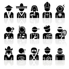The icons were created using flat shapes, and the reflections. Windows 7 Themes, Flat Shapes, Alienware, Pictogram, Free Vector Art, Icon Design, Symbols, Warning Signs, Mehndi