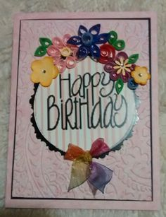 Happy Bday handmade card