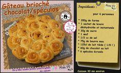 GATEAU BRIOCHE CHOCOLAT SPECULOS ( POUR LES ENFANTS )