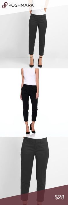 GAP Slim Crop Black Business Casual Pants Gap Slim Crop Black. Size 4R. Perfect business causal work pants. Length is cropped.   There is very very slight fading of the pants but for the price there is still a lot of life left. Have multiple pairs! GAP Pants