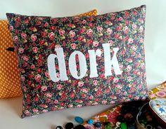 'dork' cushion by kindred rose   notonthehighstreet.com