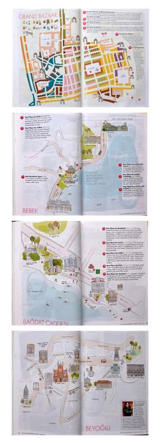 ZigZag City Guide   Anthropologie com  This may be for kids but its     The Guide Magazine s Map Project