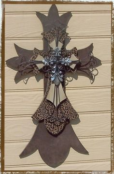 Cheetah Print Wooden Cross by wildhorsesdesign on Etsy, $125.00