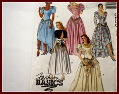 Bridesmaid Dresses or Gowns Patterns by VintagePatternsDepot