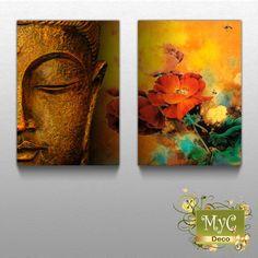 Cuadros Dipticos Tripticos Zen Orientales Buda + Regalo - ML