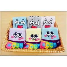 They are toe socks. With the lovely cartton face. Cute Cartoon Faces, Toe Socks, Pairs