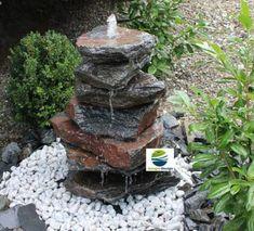 säulen brunnen aus stein mit led beleuchtung granit wassersäulen, Garten und Bauen